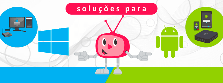 Banner TV Corporativa - Soluções Player Windows Android